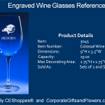 Colossal Engraved Wine Glasses