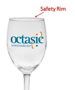 Engraved Wine Glass Safety Rim