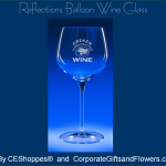 Reflections Balloon Engraved Wine Glass