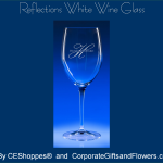Reflections White Wine Engraved Wine Glasses