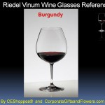 Riedel Vinum Burgundy Engraved Wine glasses